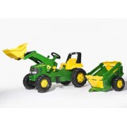 Traktor na pedale sa utovarivačem i prikolicom John Deere Rolly Toys