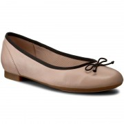Балеринки CLARKS - Couture Bloom 261260064 Nude Pink Lea