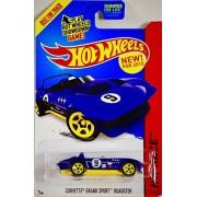2015 - Mattel - Hot Wheels - HW Race - Corvette Grand Sport Roadster - Purple w/ Yellow Chassis Racing Version - Yellow 5 Spoke Wheels - #179/250 - 1:64 Scale - Die Cast - New - MOC by Hot Wheels