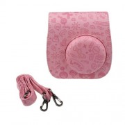 Emboss en cuir PU Camera Bag Case pour FUJIFILM Instax Mini 8 Mini 8s Rose