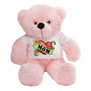 2 feet big pink teddy bear wearing a Mother's Day T-shirt
