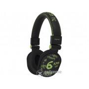 Căști Approx APPDJGGP DJ Graffiti, negru-verde