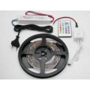 5050RGB-60-12VWF / 2 méter vízálló RGB LED szalag tápegységgel és RGB vezérlõvel
