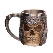 rosegal Stainless Steel 3D Skull Mug Party Decoration