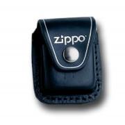 Zippo funda piel con clip negra