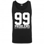 99 Problems Loose Tank black XL - Gorilla Sports