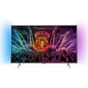 "Televizor LED Philips 125 cm (49"") 49PUS6401/12, Ultra HD 4K, Ambilight, WiFi, CI+ + Lantisor placat cu aur si pandantiv in forma de inel gravat"