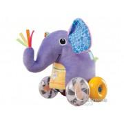 Elefant din plus pe roti Lamaze