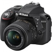 Nikon D3300 DSLR Camera with AF-P DX 18-55 mm F3.5 - 5.6 VR Kit Lens