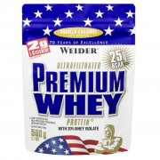 Weider Integratori Premium Whey Protein 500 Gr Vaniglia-Caramello