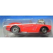 Hot Wheels 1995 Model Series #3 of 12 Cars 58 Corvette Coupe Pink with Basic Wheels #341