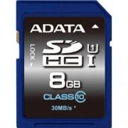 SECURE DIGITAL CARD SDHC 8GB (Class 10) ADATA 'ASDH8GUICL10-R'
