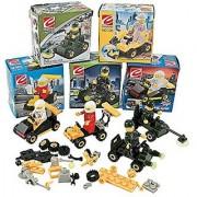 12 Mini BUILDING Block Vehicle Sets/RACE Car/JEEP/Construction etc/Party FAVOR/STOCKING STUFFERS/Motor Skills