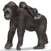Schleich Gorilla vrouwtje met jong 14662