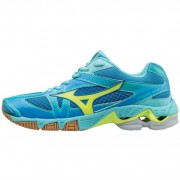 mizuno Damen-Volleyballschuh WAVE BOLT 6 - Diva Blue/Safety Yellow/Blu