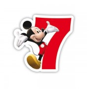 Lumanare party cifra 7 Mickey