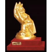 """Ръчно изработена статуетка с 22 карата златно покритие """"Дете в ръка"""" (A036)"""