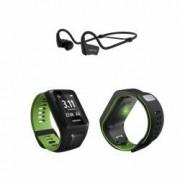 TomTom Runner 3 Cardio + Music GPS-Sportuhr inkl. Bluetooth-Sportkopfhörer S (121-175 mm)