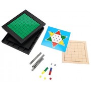 [6 In 1 ] [2~4 Player] Abs Plastic Magnetic Travel Game Reversi / Chinese Checkers / 7 Lines Go Game / Gomoku Narabe / Ludo Game / Nip
