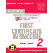 Cambridge First Certificate in English 2 for Updated Exam Student's Book without Answers: No. 2 by Cambridge ESOL