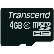 Card de memorie Transcend microSDHC, 4GB, Clasa 4