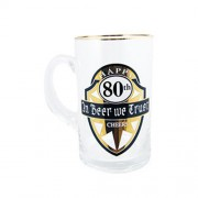 """Gold Beer Stein Large 80th Birthday"""