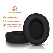 Wicked Cushions Beats Replacement Earpads - Compatible with Studio 2.0 Wired / Wireless Over Ear Headphones by Dr. Dre ONLY ( DOES NOT FIT SOLO 2.0 )   Black