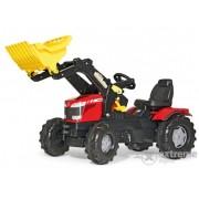 Tractor cu pedale Massey Ferguson 8650 cu excavator