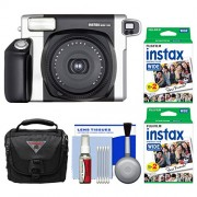 Fujifilm Instax Wide 300 Instant Film Camera with 40 Wide Twin Prints Case Kit
