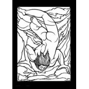 William Blake Stained Glass Coloring Book by Marty Noble