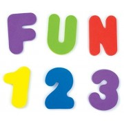 Munchkin Bath Letters and Numbers Assorted Colors - 72 Count by Munchkin