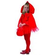 Joker e 863-001 - Costume di Carnevale in Busta, Cappuccetto, Rosso
