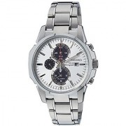 Seiko Silver Stainless Steel Round Dial Quartz Watch For Men (SSC083P1)