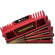 Corsair CMZ32GX3M4X1866C10R Vengeance Memoria per Desktop a Elevate Prestazioni da 32 GB (4x8 GB), DDR3, 1866 MHz, CL10, con Supporto XMP, Rosso