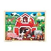 Melissa & Doug Wooden Jigsaw Puzzle - Barnyard Buddies