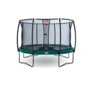 Berg Trampolin Elite+ Regular inkl. Sicherheitsnetz T-Serie 430 cm grün Tattoo