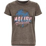 River Island Boys Grey burnout 'Malibu' print T-shirt