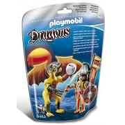 Playmobil Dragones - Dragón Roca con guerrero (5462)