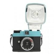 Lomography Diana Mini with Flash Cyan - aparat foto pe film de 35mm