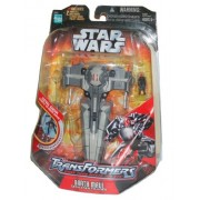 Transformers Star Wars Series 7 Inch Tall Action Figure - DARTH MAUL to SITH INFILTRATOR with 2 Missile and Darth Maul Mini by Hasbro