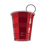 Red Solo Cup Beer Pong Party Fridge 3.5 Inch Magnet