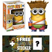 Tourist Dave: Funko POP! Movies x Despicable Me 3 Vinyl Figure + 1 FREE CG Animation Themed Trading Card Bundle (13426)