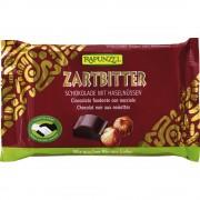 Ciocolata bio amăruie Cristalino 60% cacao si alune întregi HIH
