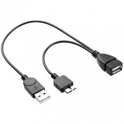 Micro USB 3.0 Host OTG Y-Cable Adapter for Mobile Phones & Tablets