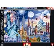 Puzzles Educa - Monumentos del mundo, puzzle de 2000 piezas (15538)