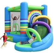 Happy Hop Rainbow Castle with Slide - Springkussen