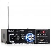 Skytronic AV-360 Amplificador estéreo HiFi USB SD MP3 AUX FM