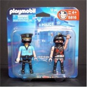 Thief set blister 5816 and Playmobil Police (japan import)