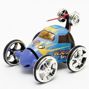 Aeiolw RC Car 360 Degree Spinning and Flips Multifunctional Rechargeable RC Acrobatic Stunt Car with LED Lights Blue