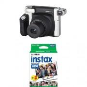 Pack Fujifilm Instax Wide 300 Appareil Photo Argentique Instantané Noir + Bipack Instax 10 x 2 films